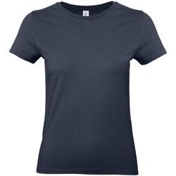 Textiel Dames T-shirts korte mouwen B And C E190 Marineblauw