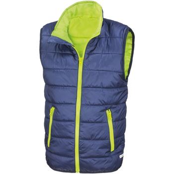Textiel Kinderen Dons gevoerde jassen Result R234JY Marine / Kalk