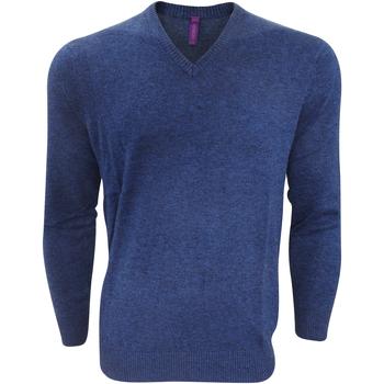 Textiel Heren Truien Henbury Marl Blauwe mergel