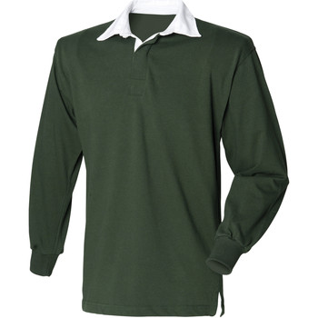 Textiel Heren Polo's lange mouwen Front Row Rugby Fles groen