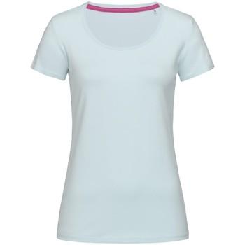 Textiel Dames T-shirts korte mouwen Stedman Stars Claire Poederblauw
