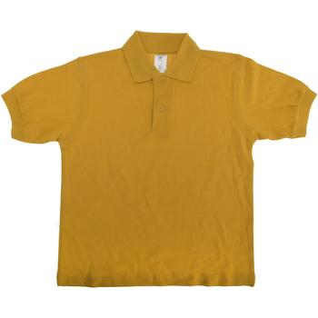 Textiel Kinderen Polo's korte mouwen B And C Safran Goud