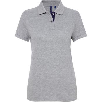 Textiel Dames Polo's korte mouwen Asquith & Fox Contrast Heide/Marine