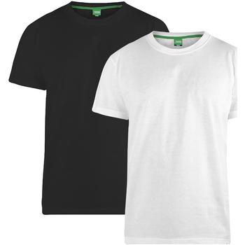 Textiel Heren T-shirts korte mouwen Duke Fenton Zwart/Wit
