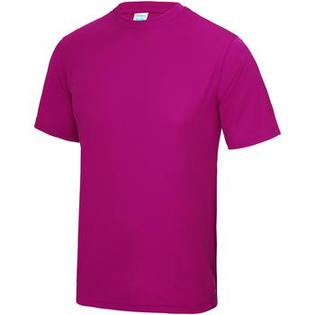 Textiel Kinderen T-shirts korte mouwen Just Cool JC01J Heet Roze
