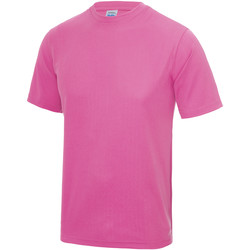 Textiel Heren T-shirts korte mouwen Just Cool Performance Elektrisch Roze