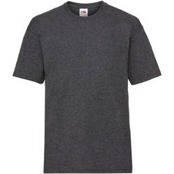 Textiel Kinderen T-shirts korte mouwen Fruit Of The Loom 61033 Donker Heather