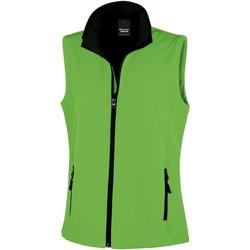 Textiel Dames Vesten / Cardigans Result Printable Levendig groen / zwart