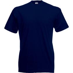 Textiel Heren T-shirts korte mouwen Universal Textiles Casual Middernacht blauw