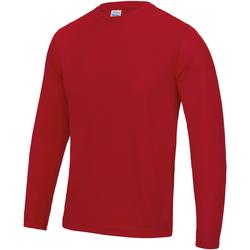 Textiel Heren T-shirts met lange mouwen Just Cool Performance Vuurrood