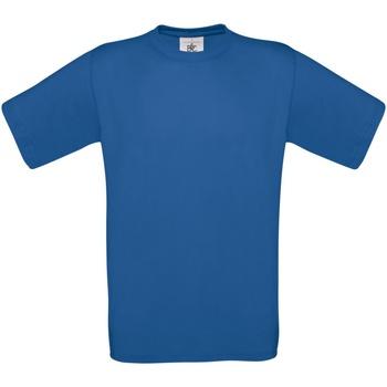 Textiel Heren T-shirts korte mouwen B And C Exact 190 Royaal Blauw