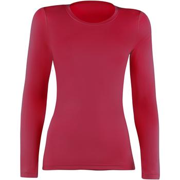 Textiel Dames T-shirts met lange mouwen Rhino RH003 Rood