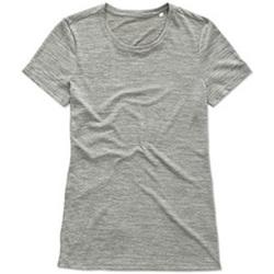 Textiel Dames T-shirts korte mouwen Stedman Active Grijs