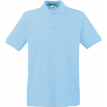 Textiel Heren Polo's korte mouwen Fruit Of The Loom Premium Hemel Blauw