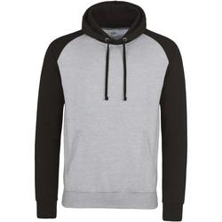 Textiel Heren Sweaters / Sweatshirts Awdis Hooded Heide Grijs/Jet Zwart