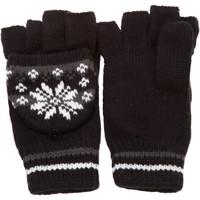 Accessoires Dames Handschoenen Universal Textiles Patterned Zwart/Grijs