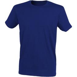 Textiel Heren T-shirts korte mouwen Skinni Fit Stretch Heide-Marine