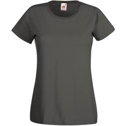 Textiel Dames T-shirts korte mouwen Universal Textiles Casual Grafiet