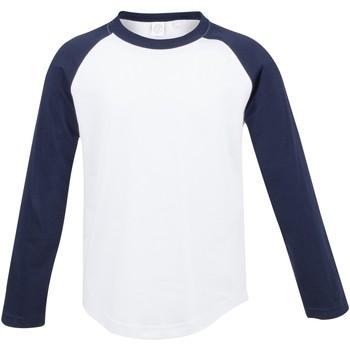 Textiel Kinderen T-shirts met lange mouwen Skinni Fit Baseball Wit / Oxford Navy