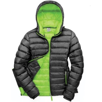 Textiel Dames Dons gevoerde jassen Result Snowbird Zwart/Lijkgroen