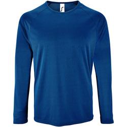 Textiel Heren T-shirts met lange mouwen Sols Performance Koningsblauw
