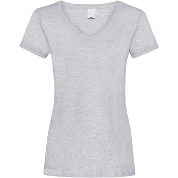 Textiel Dames T-shirts korte mouwen Universal Textiles Value Grijze Mergel