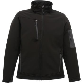 Textiel Heren Fleece Regatta Arcola Zwart / Seal Grey