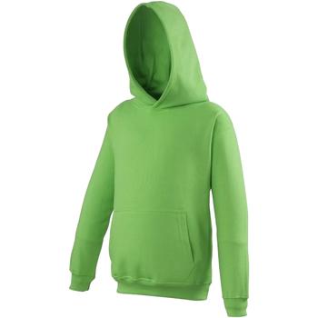 Textiel Kinderen Sweaters / Sweatshirts Awdis Hooded Kalk groen