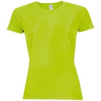 Textiel Dames T-shirts korte mouwen Sols Sporty Neon Groen