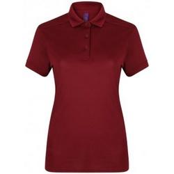 Textiel Dames Polo's korte mouwen Henbury HB461 Bourgondië
