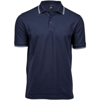 Textiel Heren Polo's korte mouwen Tee Jays Stripe Marine / Wit