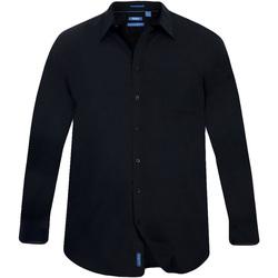 Textiel Heren Overhemden lange mouwen Duke Classics Zwart