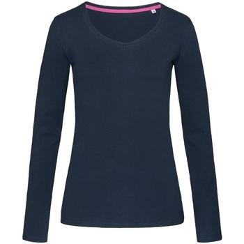 Textiel Dames T-shirts met lange mouwen Stedman Stars Claire Jachthaven Blauw