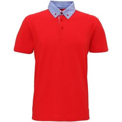 Textiel Heren Polo's korte mouwen Asquith & Fox Chambray Rood/Denim