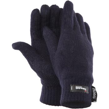 Accessoires Dames Handschoenen Floso Knitted Marine