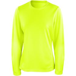 Textiel Dames T-shirts met lange mouwen Spiro Performance Kalk groen