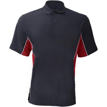 Textiel Heren Polo's korte mouwen Gamegear Pique Marine / Rood / Wit