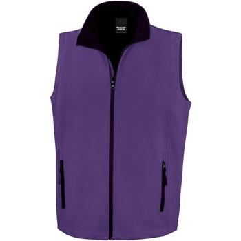 Textiel Heren Vesten / Cardigans Result Softshell Paars / Zwart