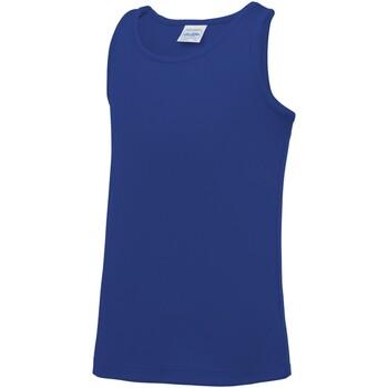 Textiel Kinderen Mouwloze tops Awdis JC07J Koningsblauw