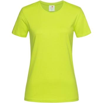 Textiel Dames T-shirts korte mouwen Stedman  Fel Geel