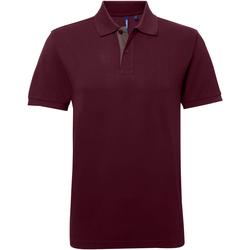 Textiel Heren Polo's korte mouwen Asquith & Fox Contrast Bourgogne/Houtskool