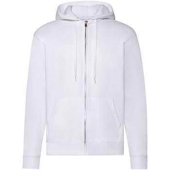 Textiel Heren Sweaters / Sweatshirts Fruit Of The Loom Hooded Wit