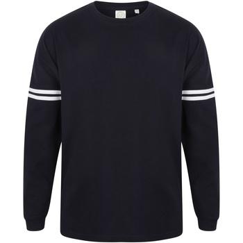 Textiel Heren T-shirts met lange mouwen Skinni Fit Slogan Marine Oxford / Witte strepen