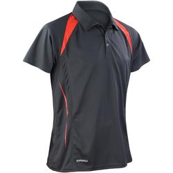 Textiel Heren Polo's korte mouwen Spiro Performance Zwart/Rood