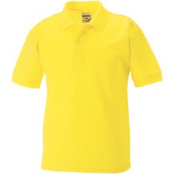 Textiel Jongens Polo's korte mouwen Jerzees Schoolgear 65/35 Geel