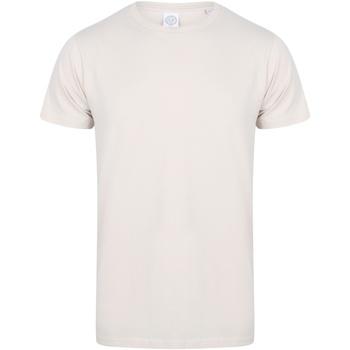 Textiel Heren T-shirts korte mouwen Skinni Fit Stretch Lichte steen