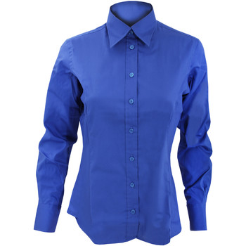Textiel Dames Overhemden Kustom Kit Oxford Koningsblauw