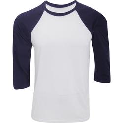 Textiel Heren T-shirts met lange mouwen Bella + Canvas Baseball Wit/Zwaar