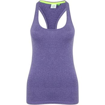 Textiel Dames Mouwloze tops Tombo TL506 Paarse mergel
