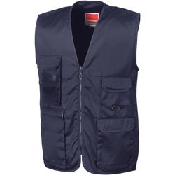 Textiel Heren Vesten / Cardigans Result R45X Middernacht marine